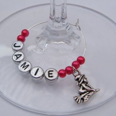 Mini Witch Personalised Wine Glass Charm